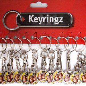 Trolley Coin New Cheeky Monkey Keyring