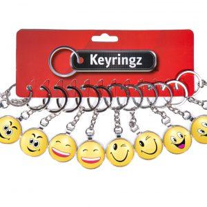 2D Emoji Glass Keyring