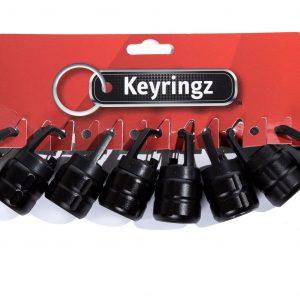 Flashlight Black Keyring