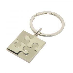 Jigsaw Piece Engravable Keyring