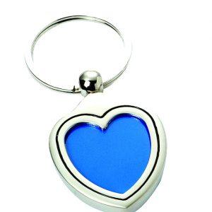 Heart Photoholder Engravable Keyring