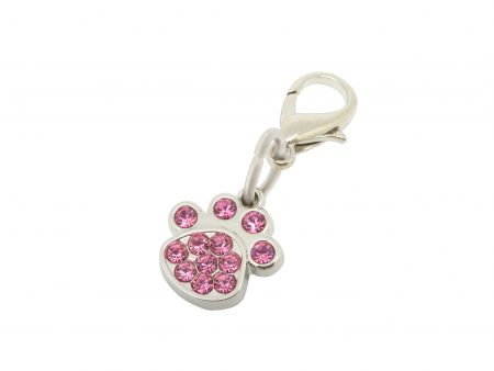 Pet Charm Crystal Paw Pink