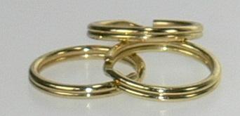 "Split ring Brass 1/2"" 100/bag"