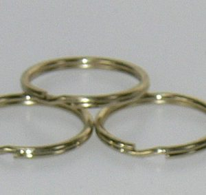 Split ring Brass 5/8in 100/bag