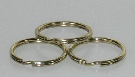Split ring Brass 3/4in 100/bag