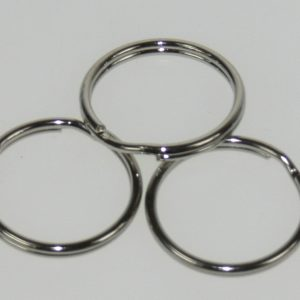 Split ring Nickel 1 1/4in 100/bag