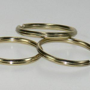Split ring Brass 1 1/2in 100/bag