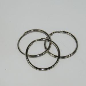 Split ring Nickel 1 1/2in 100/bag