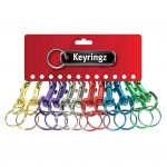 Metal Colour Hipster Keyring