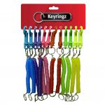 Spiral Neon Colours Keyring