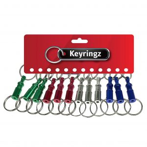 Metallic Colour Quick Release Keyring