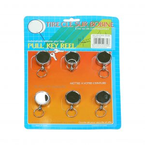 Retractable with Belt Clip Keyring