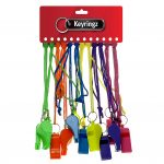 Colour Whistle on Coloured Cord
