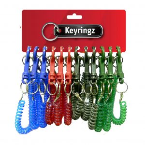 Best Quality Spiral Dark Colours Keyring