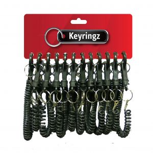 Best Quality Spiral All Black Keyring