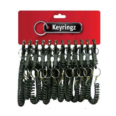 Best Quality Spiral All Black Keyring