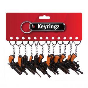 Guns 6 Styles Keyring