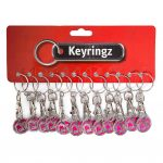 Trolley Coin New Born to Shop Keyring