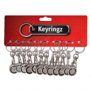 Trolley Coin New Darts Keyring