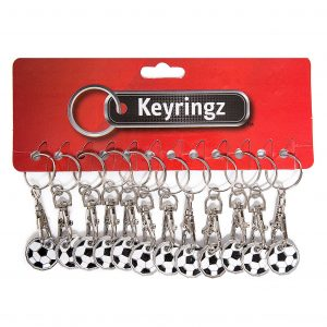 Trolley Coin New Football Keyring