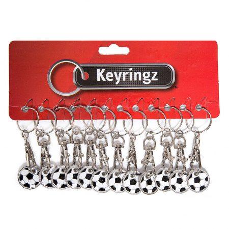 Trolley Coin New Football Keyring
