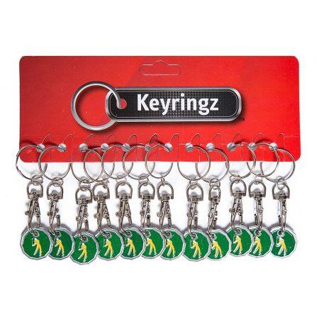 Trolley Coin New Golfer Keyring