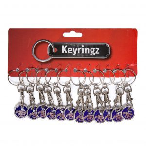 Trolley Coin New No1 Girlfriend Keyring