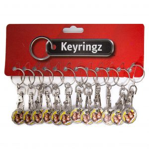 Trolley Coin New Cheeky Monkey Keyring