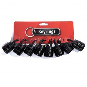 Flashlight Black Keyring