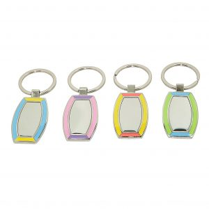Rectangle Engraveable Keyring Fob