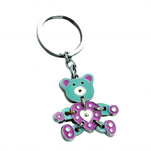 Teddy Moveable Engravable Keyring