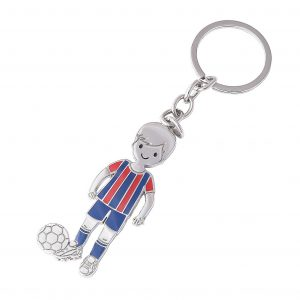 Footballer Boy Engraveable Keyring