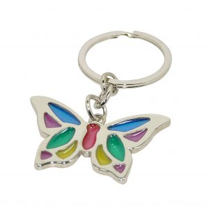 Butterfly Stained Glass Keyring