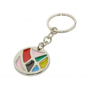 Round Stained Glass Style Keyring