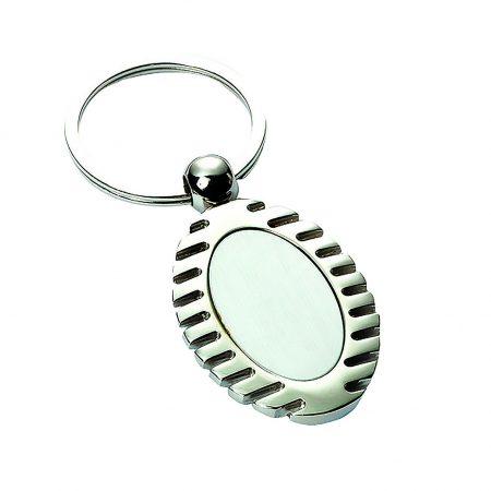 Oval Engravable Keyring