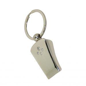 Whistle Engraveable Keyring