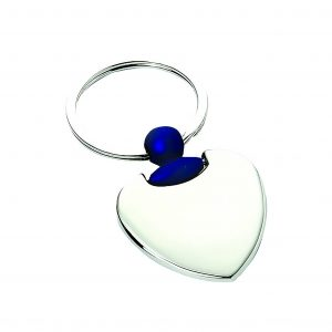 Heart Engravable Keyring