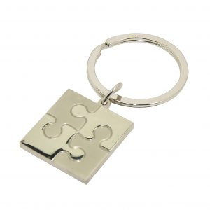 Jigsaw Piece Engravable Keyring