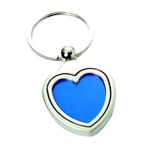 Heart Photoholder Engravable Keyring
