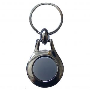 Two Tone Round Key Fobe Keyring