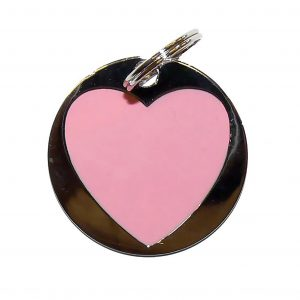 Pink Heart tag